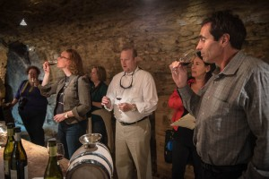 Wine tasting in the cellar is always a favorite memory with our clients!