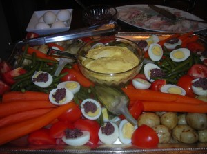 another home made aioli served with tapenade