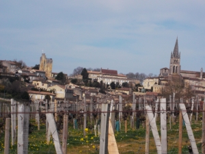 St Emilion, from Pavie's vineyards