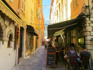 A sidestreet in Monaco, just a few miles from the Fitzgeralds' home.