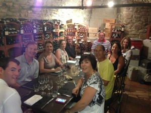 The wine lovers on the trip had fun exploring the cellar