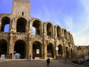 The Arles Colisseum was built shortly after Rome's- you can see the inspiration!