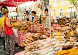 "Try your French out at a market with a simple ""Une baguette, s'il vous plait!"""