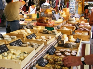 Local cheeses were everywhere. Our mouths were watering from a booth away.