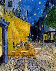 """Cafe Terrace at Night"" by Vincent van Gogh, 1888."