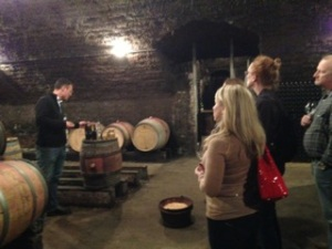 A trip to a wine maker's private cellar welcomed us to Burgundy. Not too shabby!
