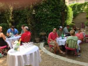 Bliss clients also enjoyed a beautiful late lunch just outside of van Gogh's Provencal sanitorium.