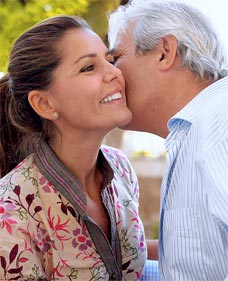 A kiss on the cheek is a typical greeting in France among colleagues and friends. Let's just stick with Bonjour for now!