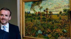 """Sunset at Montmajour"" was unveiled by the delighted  van Gogh museum director, Axel Ruetger."