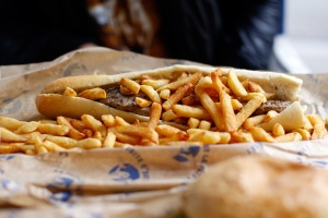 Frites become part of the sandwich (if the sandwich is even necessary) to add that special crunch. Delicieux!